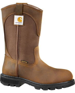 Carhartt Women's Wellington Work Boots, Brown, hi-res
