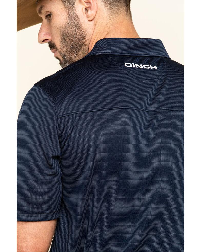 Cinch Men's Arena Flex Navy Short Sleeve Polo Shirt , Navy, hi-res