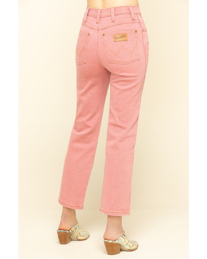 Wrangler Modern Women's Pink Heritage High Rise Straight Jeans, Pink, hi-res
