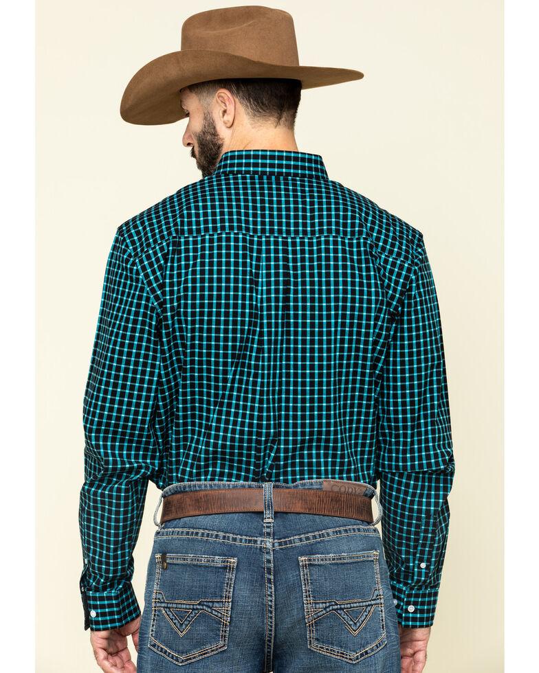 Cody James Core Men's Outlaw Territory Check Plaid Long Sleeve Western Shirt - Big , Black, hi-res