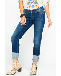 c35ad55facc Silver Women s Elyse Mid-Rise Curvy Slim Jeans