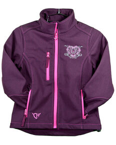 Cowgirl Hardware Toddler Girls' Wild & Free Softshell Jacket, Purple, hi-res