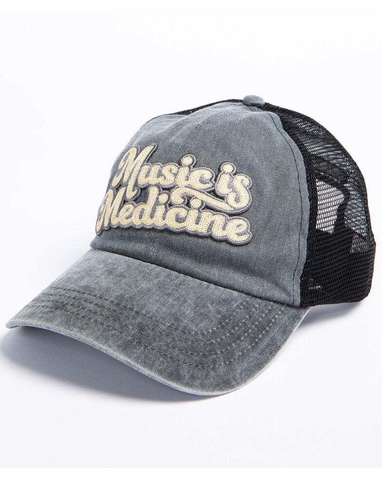 Idyllwind Women's Music is Medicine Baseball Cap, Black, hi-res