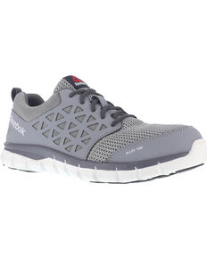 Reebok Men's Mesh Athletic Oxfords - Alloy Toe, Grey, hi-res