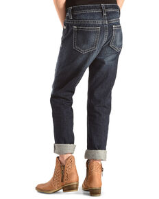 Miss Me Girls' Met Your Patch Boyfriend Ankle Jeans, Indigo, hi-res