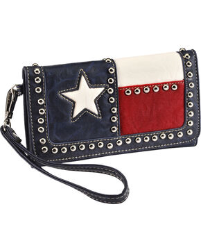 Blazin' Roxx Women's Texas Flag Wallet, Multi, hi-res
