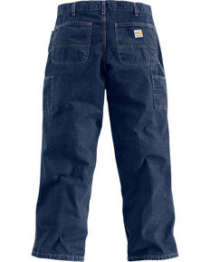 Carhartt Men's Dark Blue Flame-Resistant Denim Dungarees , Dark Blue, hi-res