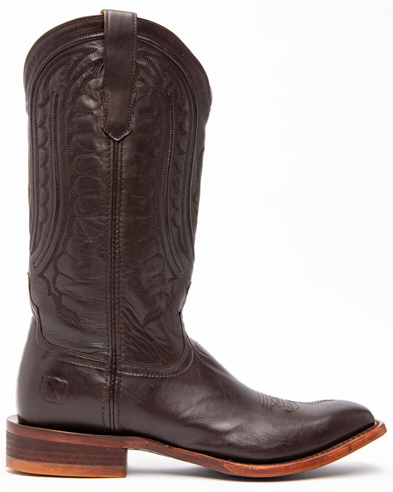 Twisted X Men's Rancher Western Boots - Wide Square Toe, Black Goat, hi-res