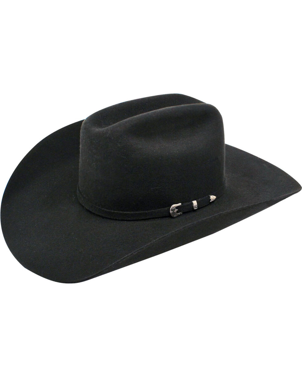 Ariat 3X Wool Felt Cowboy Hat, Black, hi-res