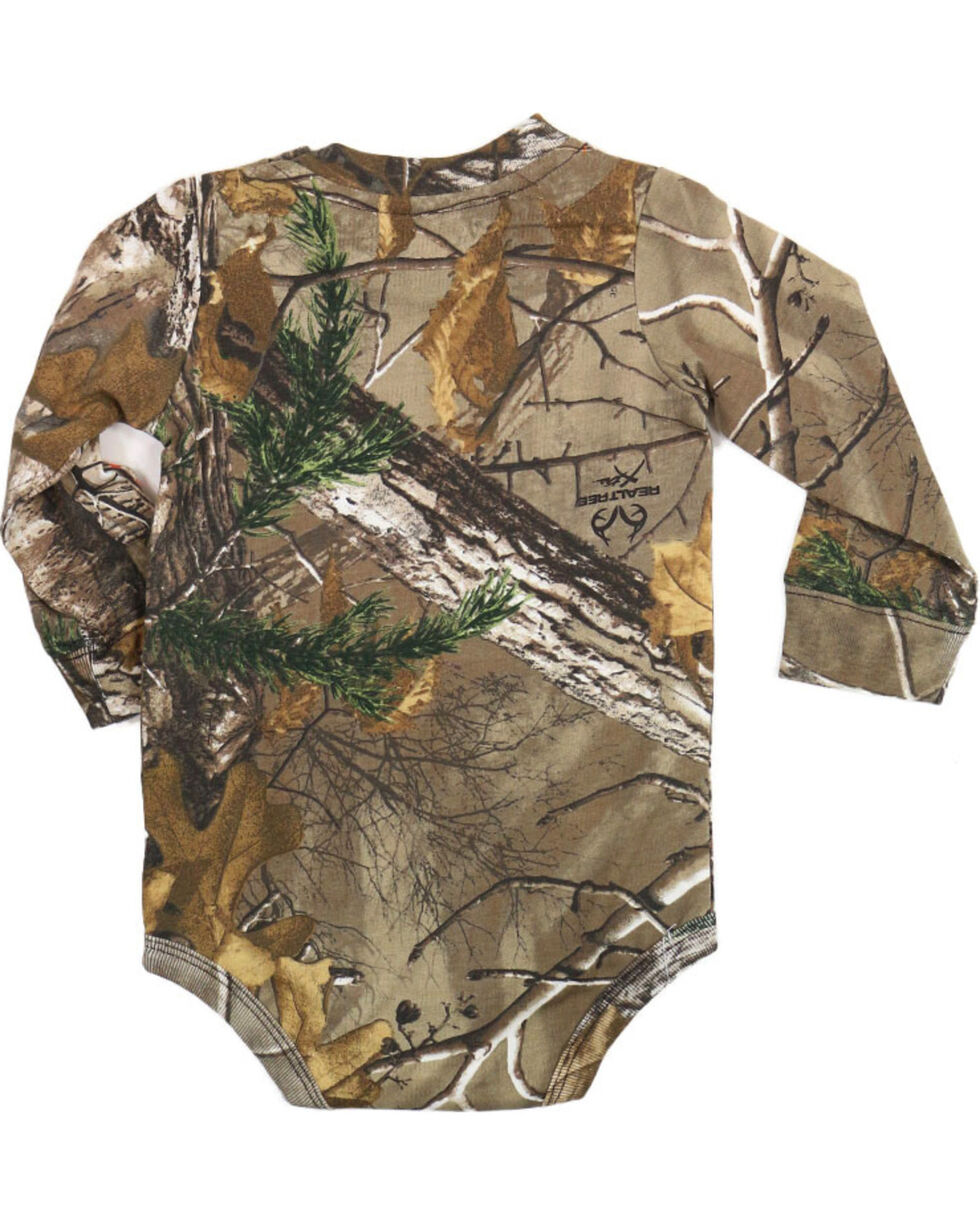 Carhartt Boy's Camo Long Sleeve Onesie, Camouflage, hi-res