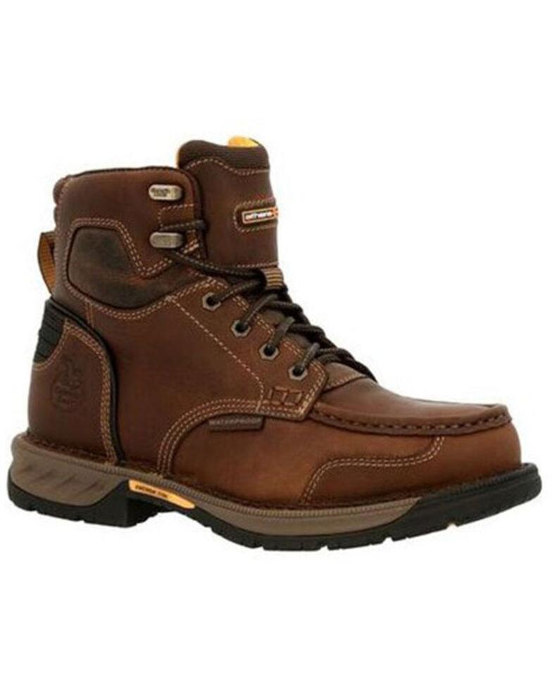 Georgia Boot Men's Athens 360 Waterproof Work Boots - Steel Toe, Brown, hi-res