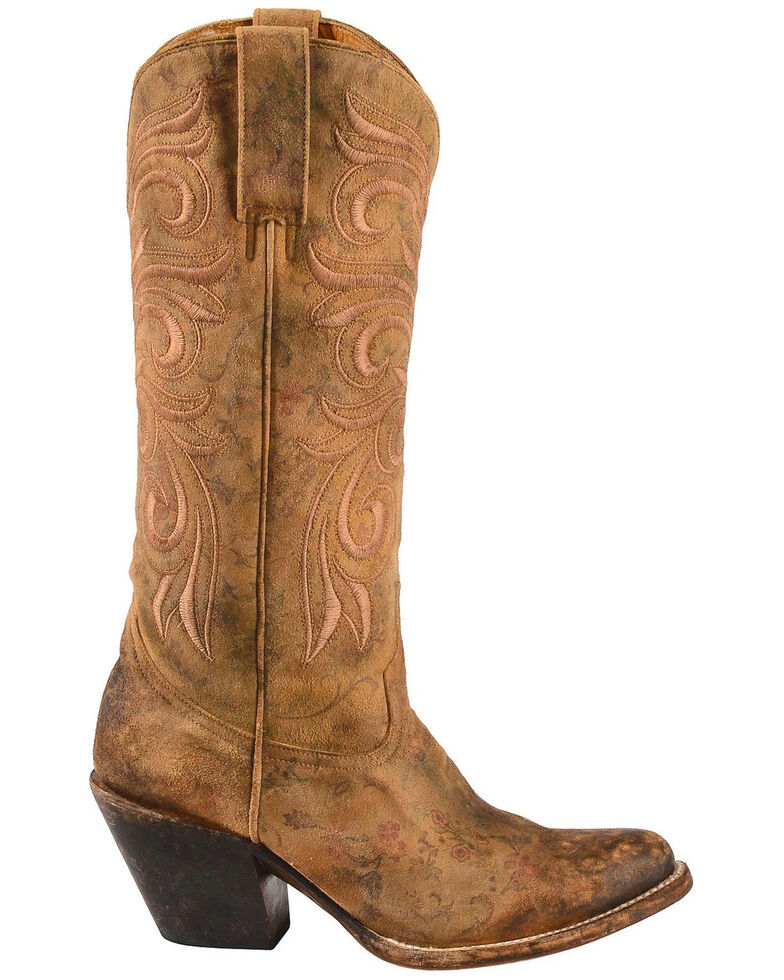 7a00cbd88ba Lucchese Women's Laurelie Embroidered Floral Western Boots