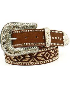 Blazin Roxx Women's Aztec Ribbon Belt , Brown, hi-res