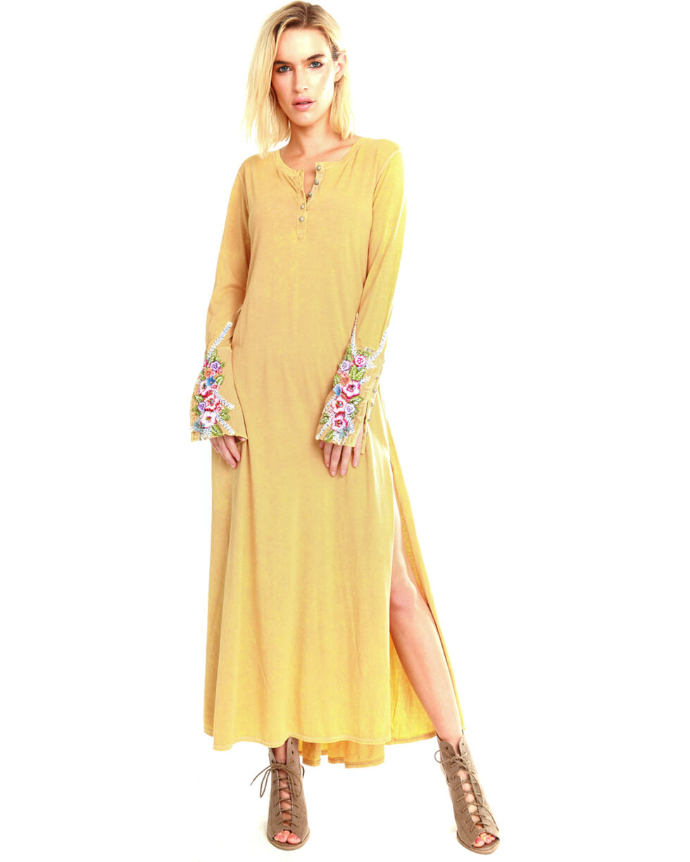 Aratta Women's Ava Maxi Dress , Yellow, hi-res
