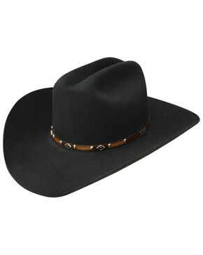 George Strait by Resistol Black Rock 6x Felt Cowboy Hat, Black, hi-res