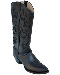 Ferrini Women's Mirabel Western Boots - Narrow Snip Toe, Black, hi-res