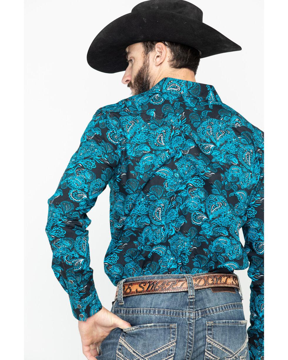 Cody James Men's El Matador Paisley Print Long Sleeve Western Shirt - Tall , Black, hi-res