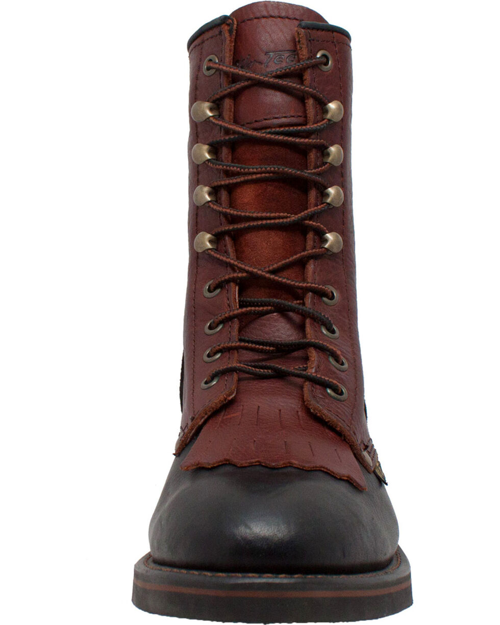"Ad Tec Women's 8"" Tumbled Leather Packer Boots - Soft Toe, Multi, hi-res"