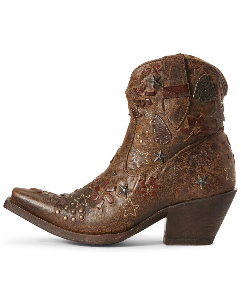 Ariat Women's Starla Woodsmoke Western Booties - Snip Toe, Brown, hi-res
