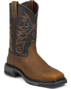 Tony Lama Men's TLX Comp Toe Western Work Boots, Walnut, hi-res