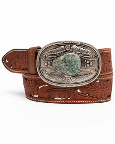 Shyanne Women's Light As A Feather Western Buckle Belt , Brown, hi-res