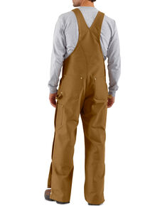 Carhartt Men's Duck Zip-To-Thigh Bib Overalls, Carhartt Brown, hi-res