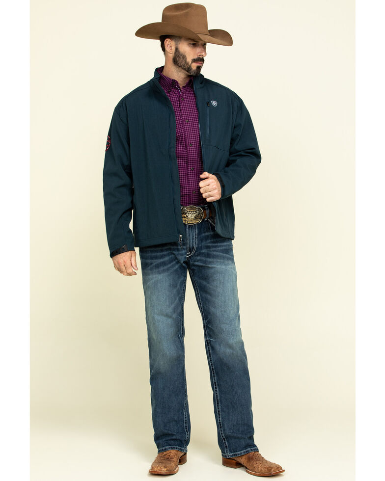 Ariat Men's Blue Logo 2.0 Softshell Zip-Up Jacket - Tall , , hi-res