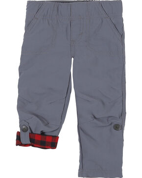 Wrangler Infant Boys' Grey Elastic Waist Lined Pants (0-24 mo.), Grey, hi-res