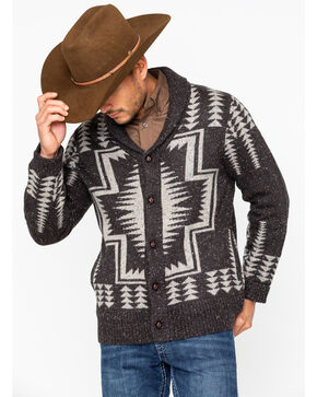 Pendleton Men's Harding Shawl Collar Cardigan Sweater , Brown, hi-res