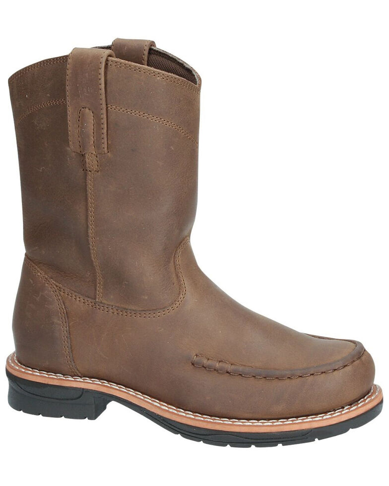 Smoky Mountain Youth Boys' Augusta Western Boots - Moc Toe, Brown, hi-res