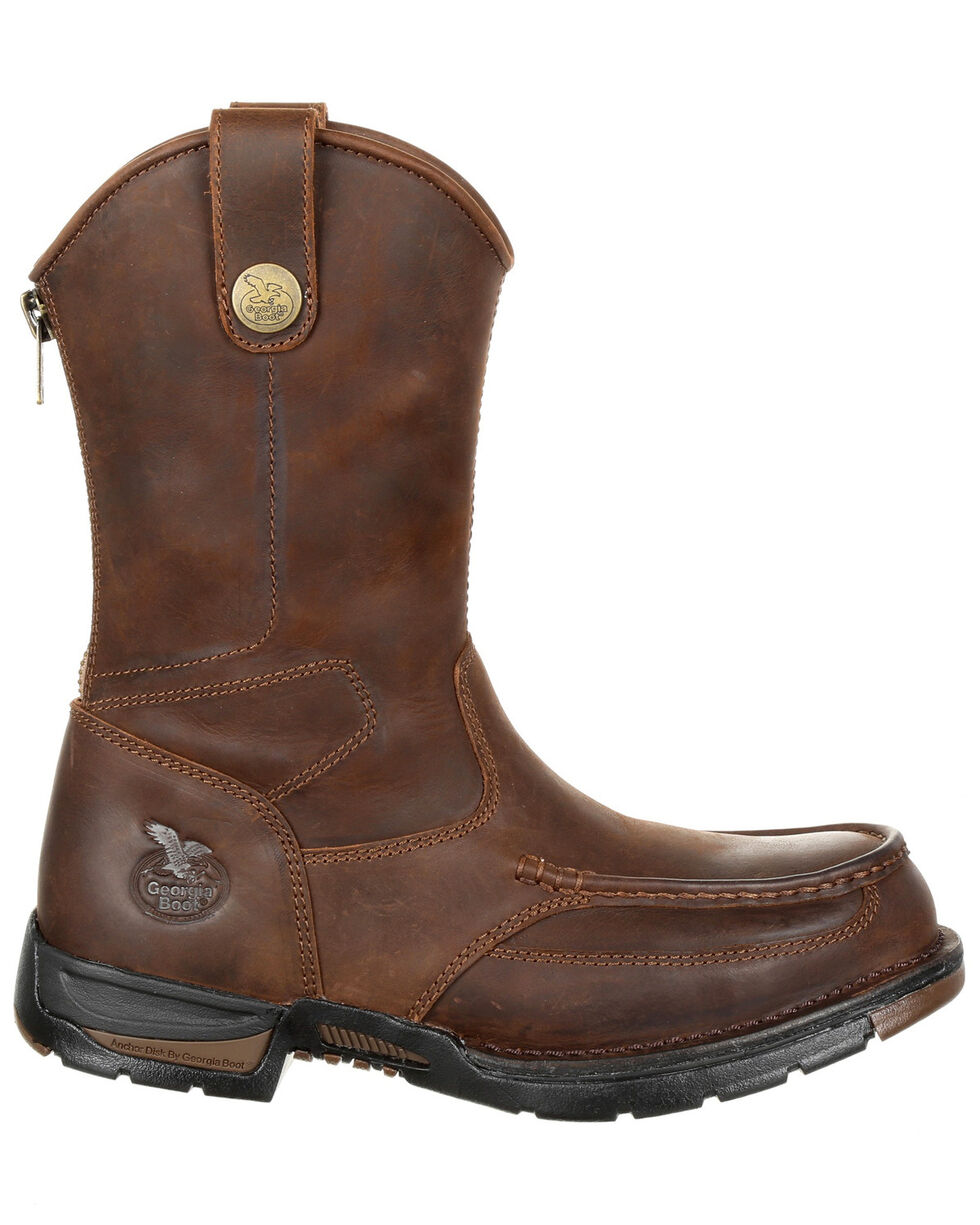 Georgia Boot Men's Athens Work Boots - Steel Toe, Dark Brown, hi-res