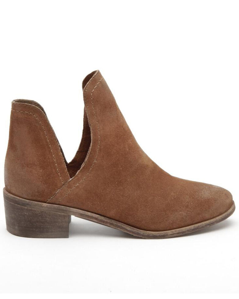 Matisse Women's Pronto Suede Fashion Booties - Round Toe, Brown, hi-res