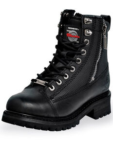 Milwaukee Motorcycle Clothing Co. Men's Accelerator Moto Boots - Round Toe, Black, hi-res