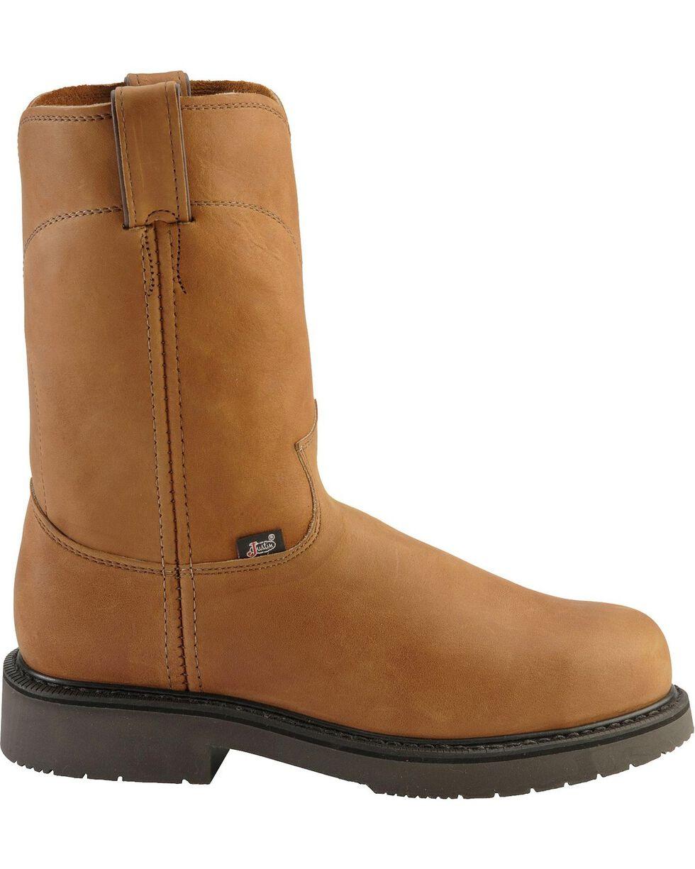 Justin Men's Utah Western Pull-On Work Boots, Aged Bark, hi-res