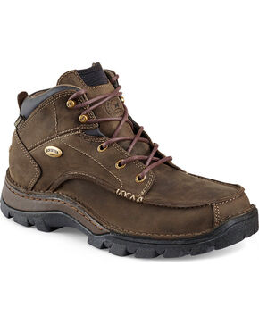 Red Wing Irish Setter Men's Borderland Boots - Moc Toe, Brown, hi-res