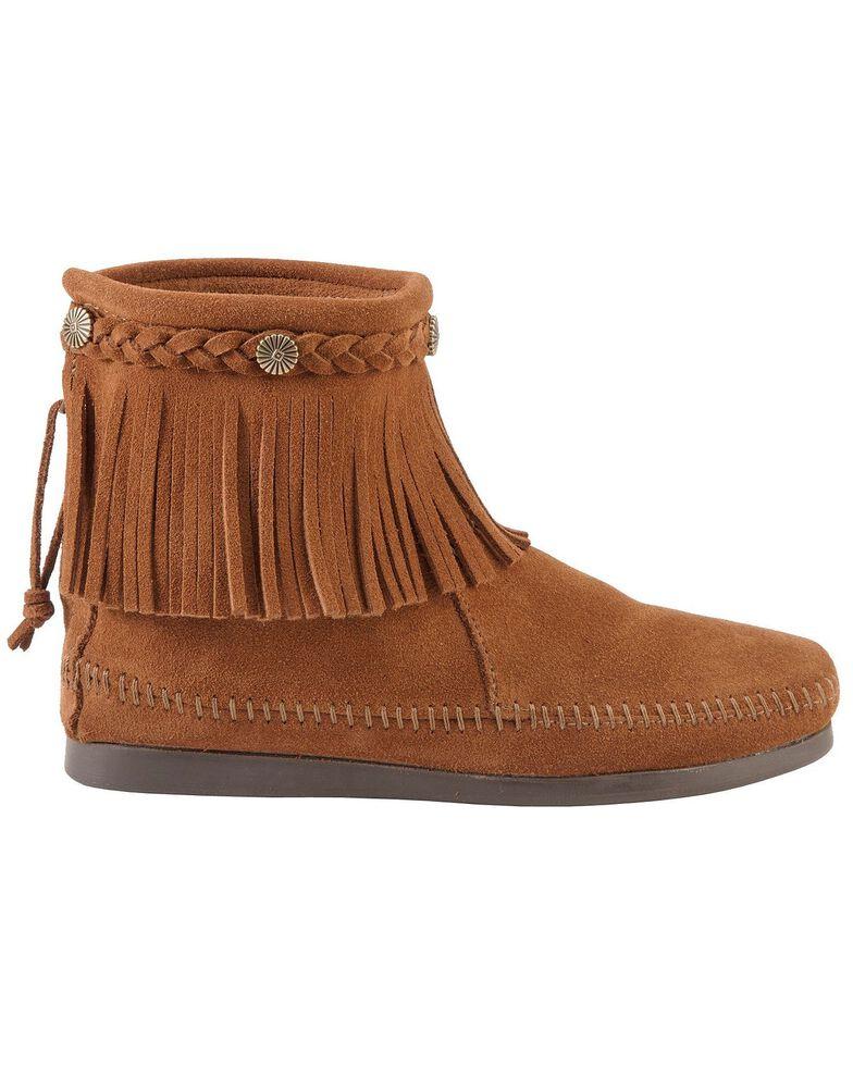 Minnetonka Women's Hi Top Back Zip Boots, Brown, hi-res