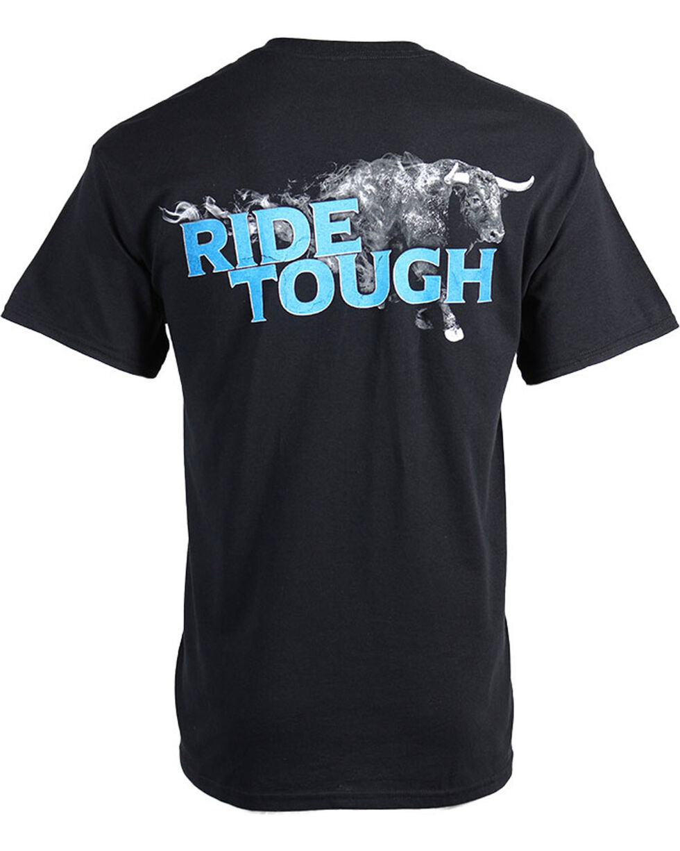 Cowboy Up Men's Black Ride Tough Short Sleeve Tee , Black, hi-res