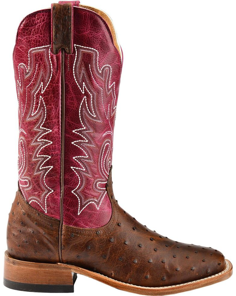 4f5d3ac06b4 Boulet Antique Full Quill Ostrich Cowgirl Boots - Square Toe