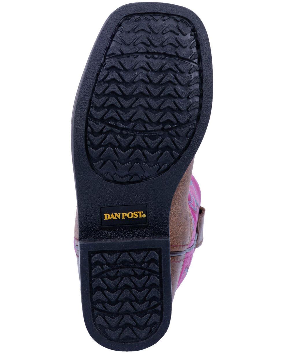 "Dan Post Girls' 9"" Punky Western Boots - Wide Square Toe, Tan, hi-res"