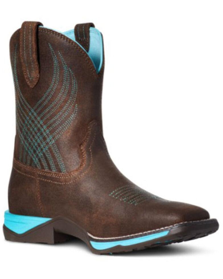 Ariat Boys' Java Anthem Western Boots - Square Toe, Dark Brown, hi-res