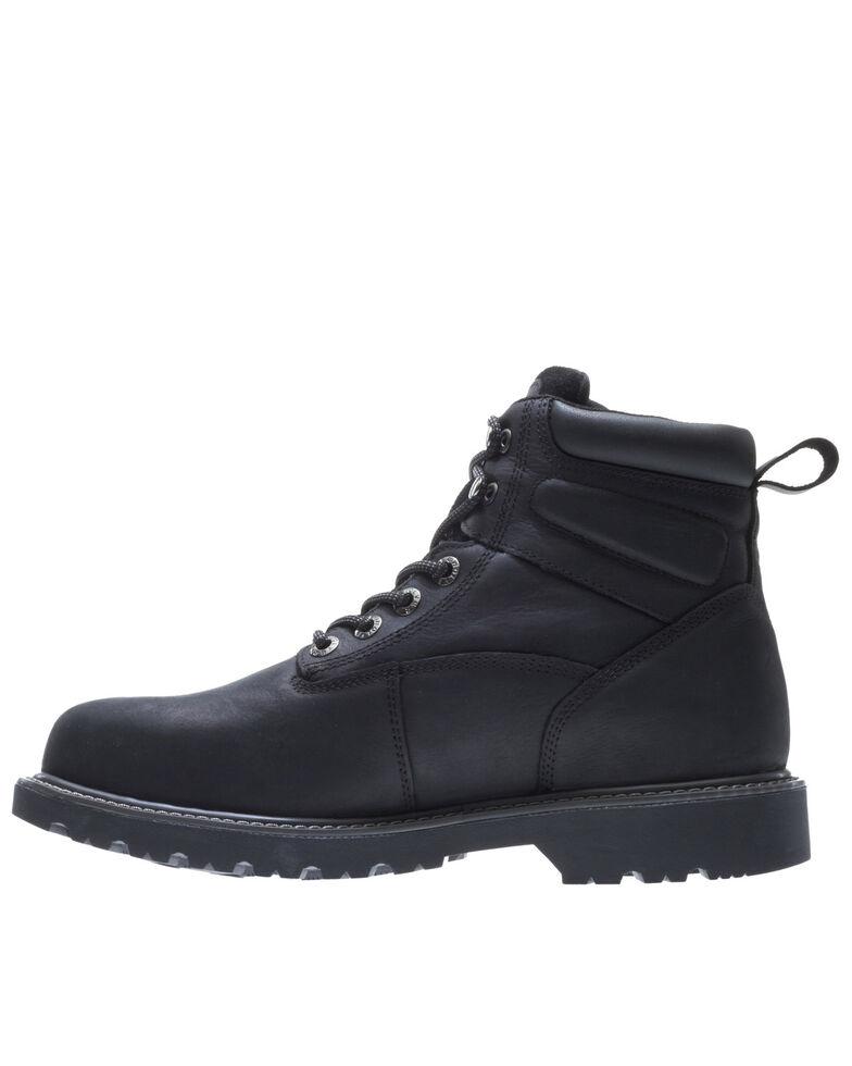 Wolverine Men's Floorhand Waterproof Work Boots - Steel Toe, Black, hi-res