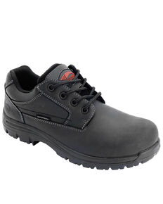 Avenger Men's Foreman Waterproof Work Shoes - Composite Toe, Black, hi-res