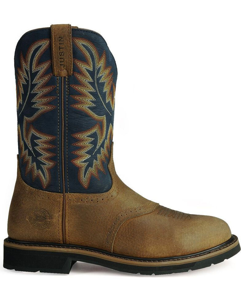 Justin Men's Stampede Work Boots, Copper, hi-res