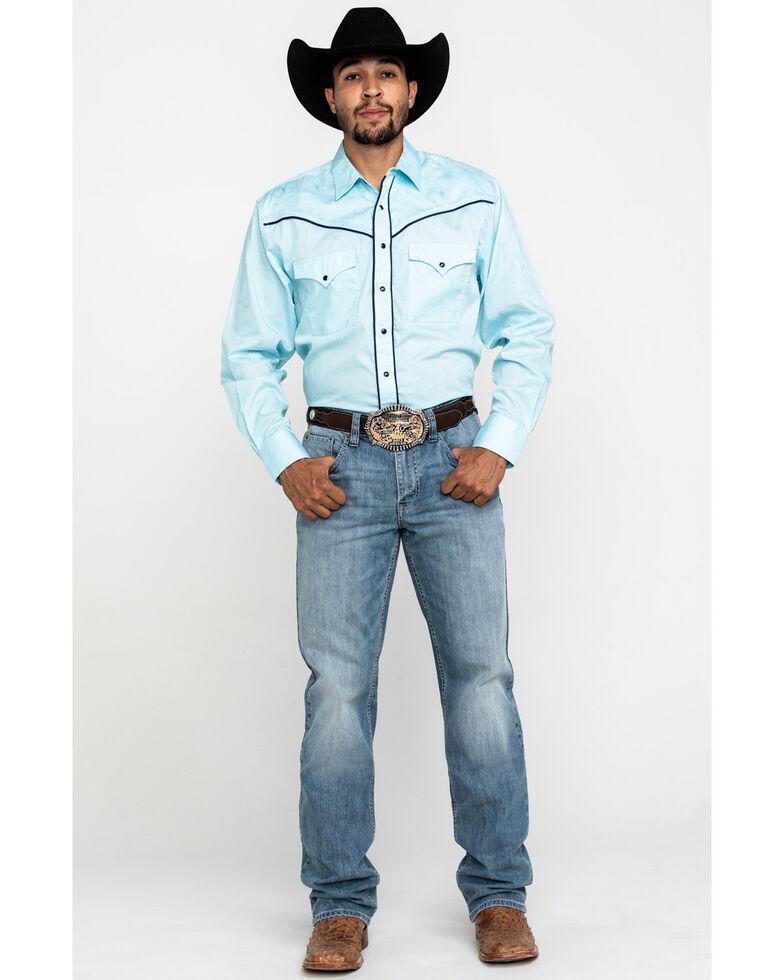 Resistol Men's Light Blue Hadley Solid Long Sleeve Western Shirt , Light Blue, hi-res
