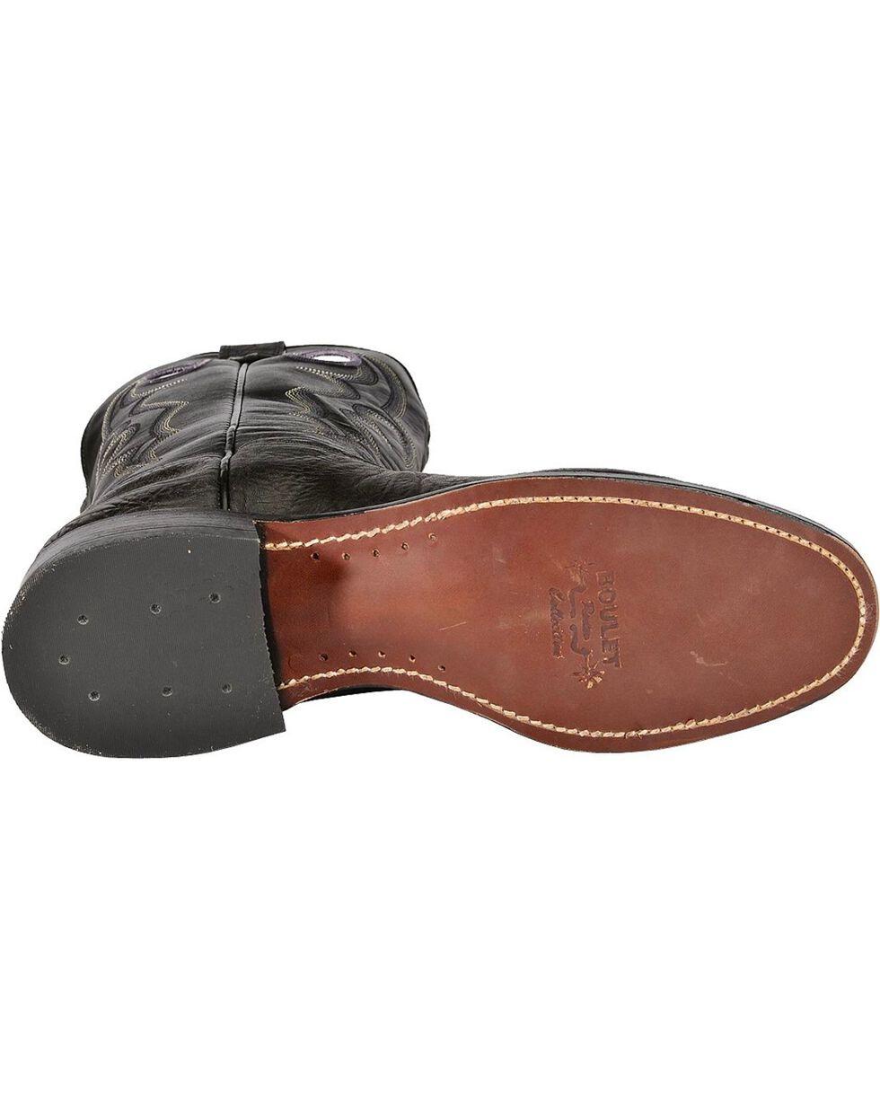 """Boulet Men's 12"""" Round Toe Super Roper Boots, Black, hi-res"""