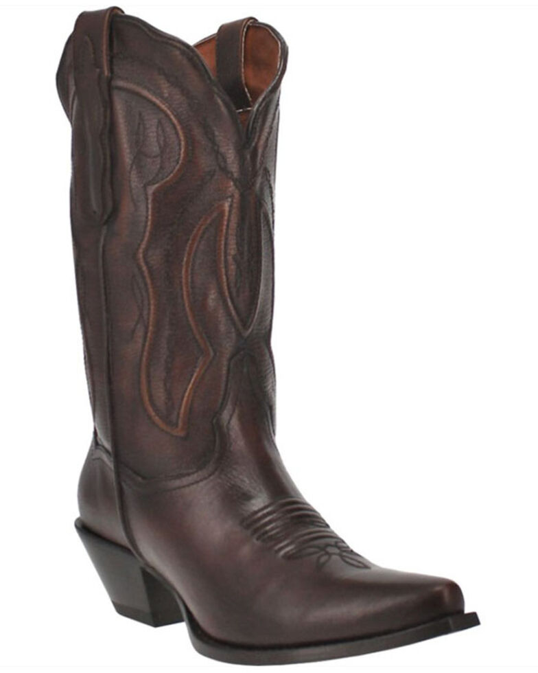 Dan Post Women's Mataya Western Boots - Snip Toe, Brown, hi-res