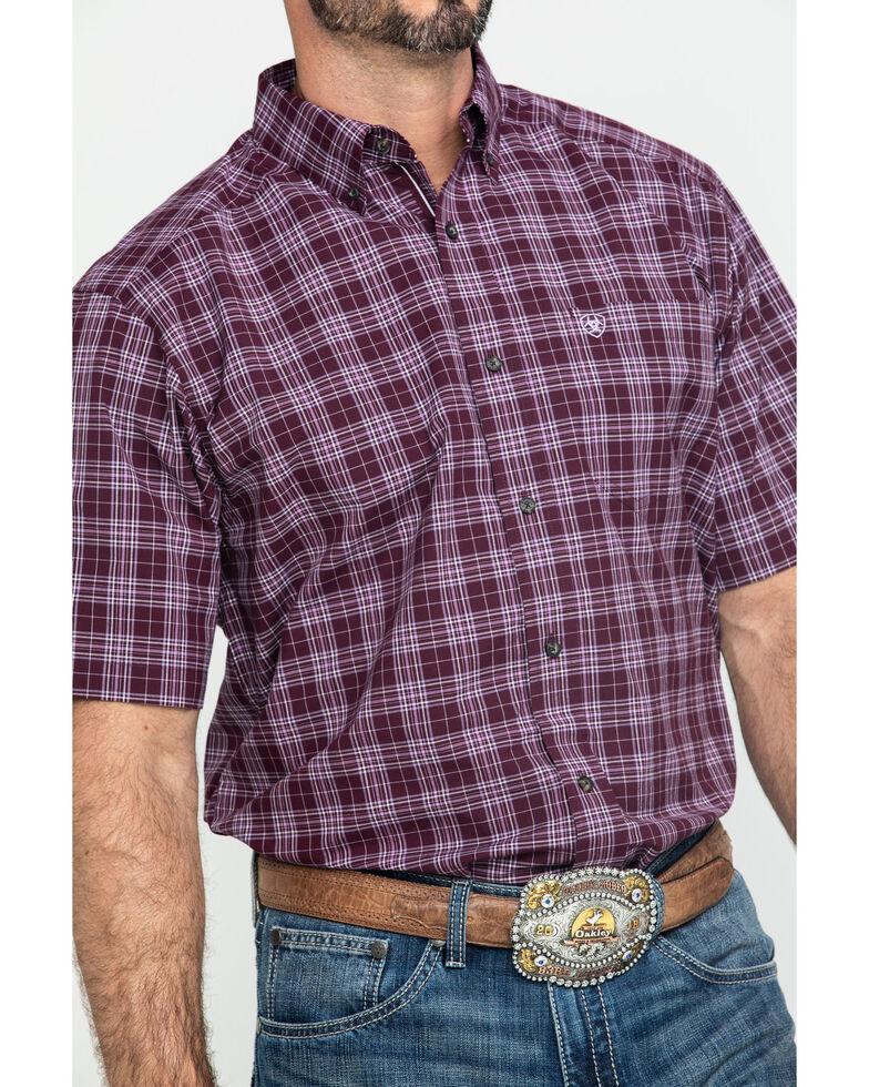 Ariat Men's Fallbrook Multi Plaid Short Sleeve Western Shirt , Multi, hi-res