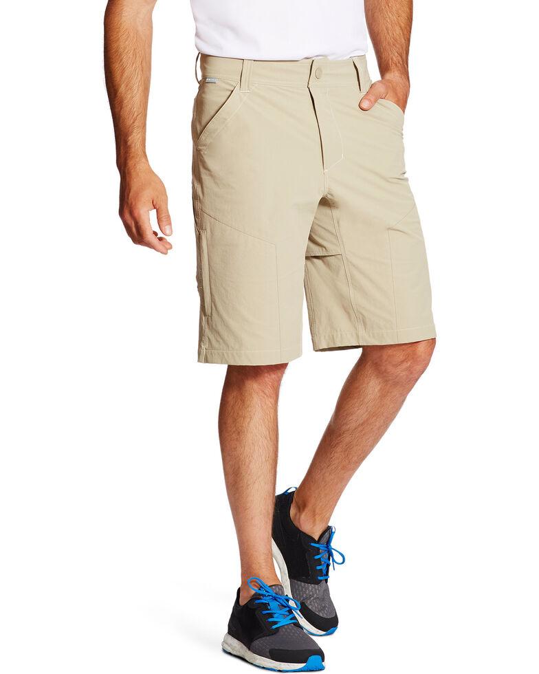 Ariat Men's Tek Cargo Shorts, Beige/khaki, hi-res