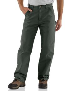 Carhartt Work Dungaree Work Pants, Moss, hi-res