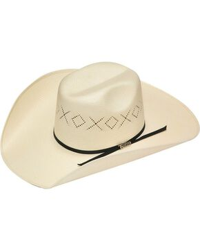 Twister 10X Shantung Ribbon Band Straw Cowboy Hat, Natural, hi-res